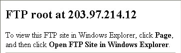 ftp display in browser