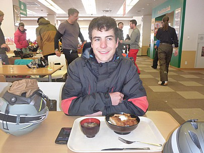 2016-02-23 12.12.49 P1000422 Simon - Adrian's first skifield lunch.jpeg: 4608x3456, 5945k (2016 Feb 22 23:12)